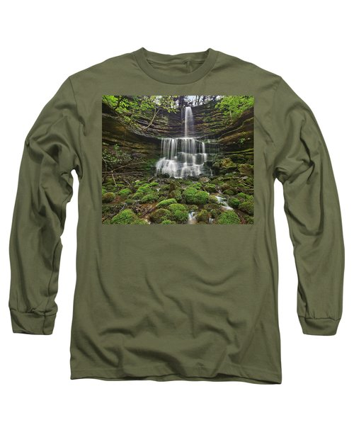 Pearly Springs Waterfall Buffalo Long Sleeve T-Shirt