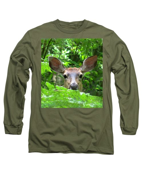 Peek-a-boo Long Sleeve T-Shirt by Rory Sagner