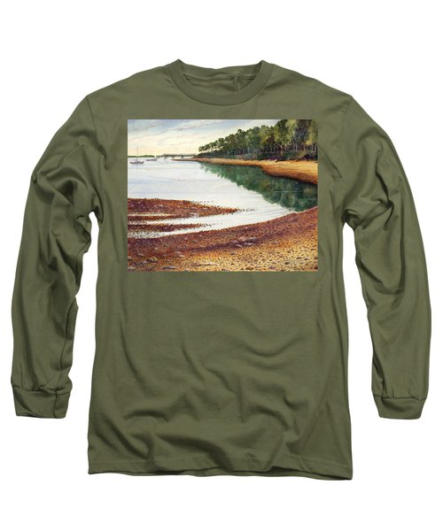 Long Sleeve T-Shirt featuring the painting Penobscot Bay by Roger Rockefeller