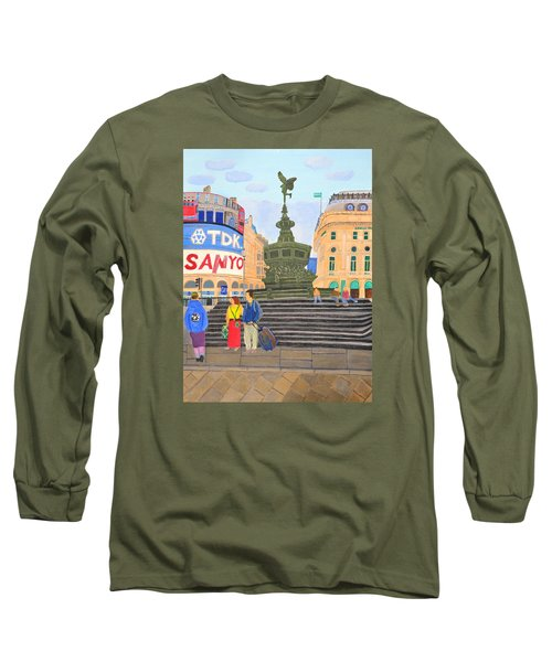 London- Piccadilly Circus Long Sleeve T-Shirt by Magdalena Frohnsdorff