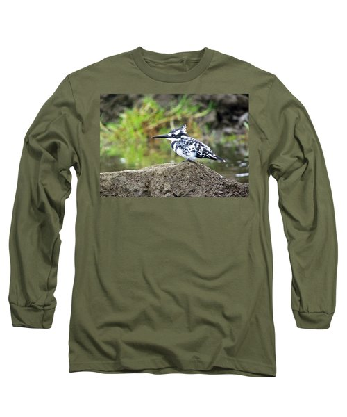 Pied Kingfisher Long Sleeve T-Shirt