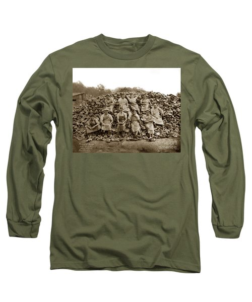 Pierce Brothers Abalone Morro Bay Circa 1925 Long Sleeve T-Shirt