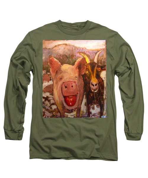 Pig And Goat Long Sleeve T-Shirt