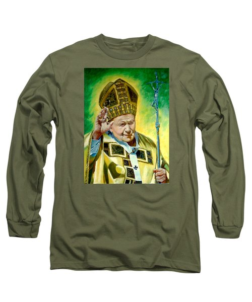 Long Sleeve T-Shirt featuring the painting Pilgrim by Henryk Gorecki
