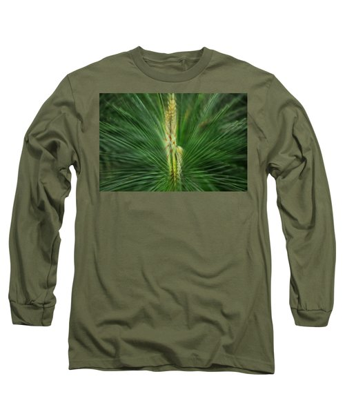Pine Cone And Needles Long Sleeve T-Shirt