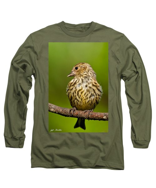 Pine Siskin With Yellow Coloration Long Sleeve T-Shirt