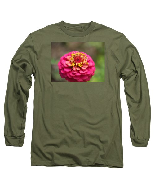 Pink Floral  Long Sleeve T-Shirt by Eunice Miller