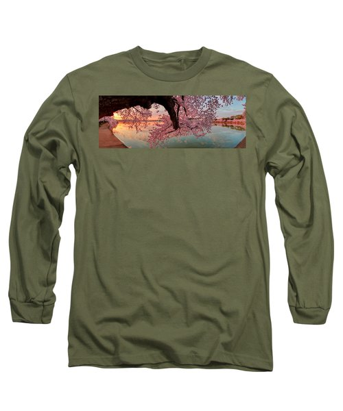 Pink Cherry Blossom Sunrise Long Sleeve T-Shirt
