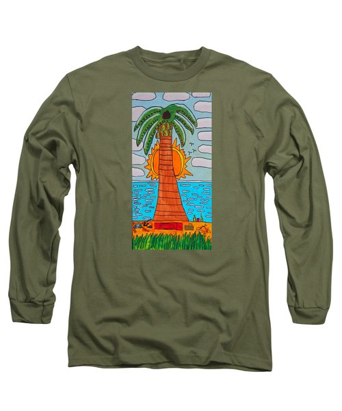 Pink Clouds Fiesta Long Sleeve T-Shirt by Artists With Autism Inc