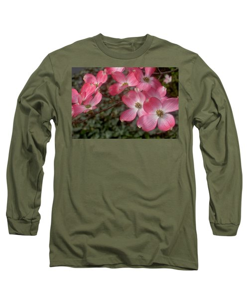 Pink Dogwood Delight Long Sleeve T-Shirt