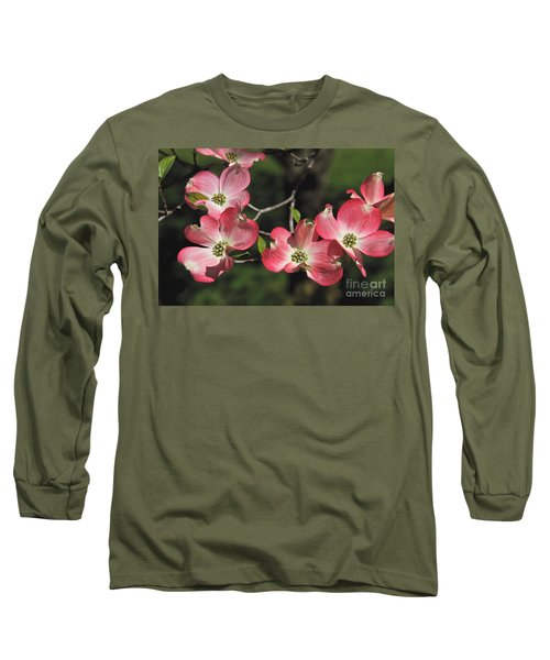 Pink Dogwood Long Sleeve T-Shirt