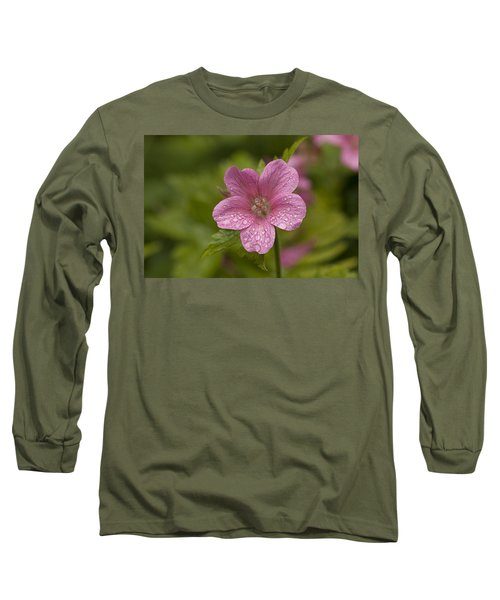 Pink Droplets Long Sleeve T-Shirt