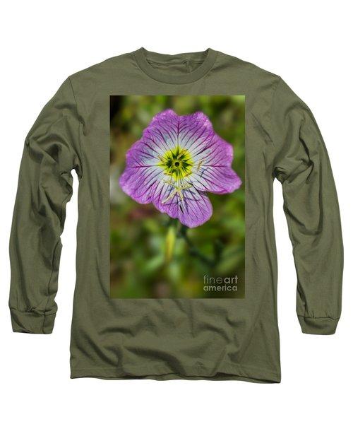 Pink Evening Primrose Long Sleeve T-Shirt