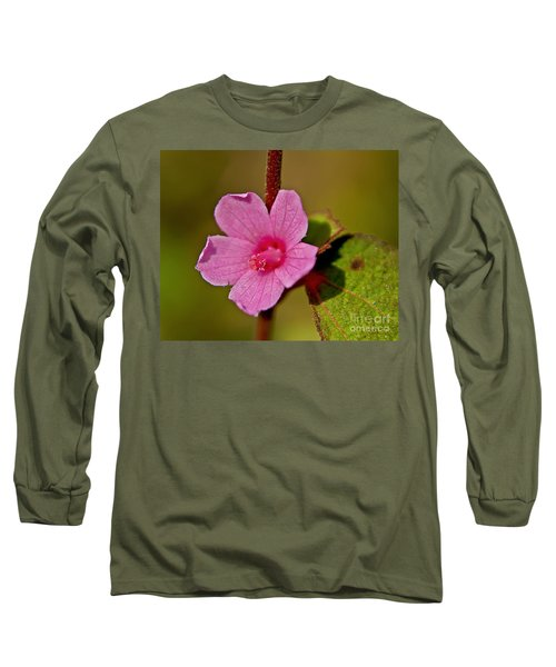 Long Sleeve T-Shirt featuring the photograph Pink Flower by Olga Hamilton