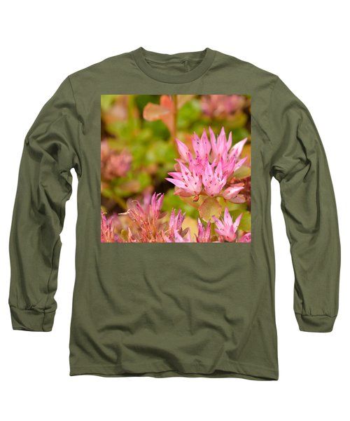 Pink Flower Long Sleeve T-Shirt by Tine Nordbred