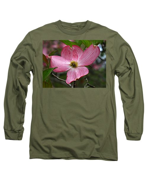 Pink Flowering Dogwood Long Sleeve T-Shirt