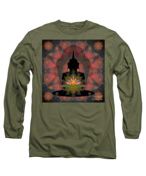 Pink Lotus Buddha Long Sleeve T-Shirt