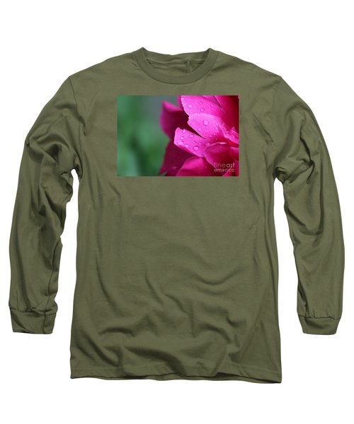 Long Sleeve T-Shirt featuring the photograph Pink Peony  by Ann E Robson