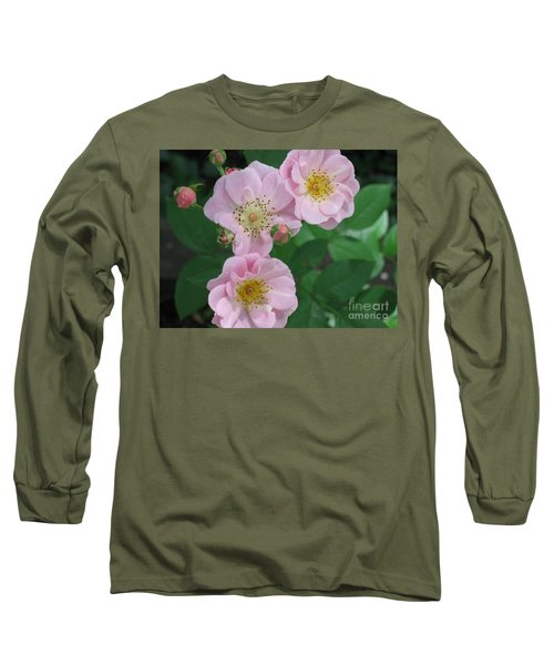 Pink Roses Long Sleeve T-Shirt by HEVi FineArt