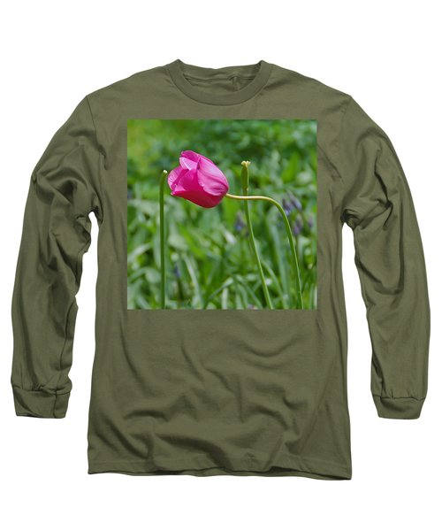Long Sleeve T-Shirt featuring the photograph Pink Tulip by Aimee L Maher Photography and Art Visit ALMGallerydotcom