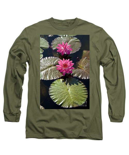 Pink Water Lily IIi Long Sleeve T-Shirt