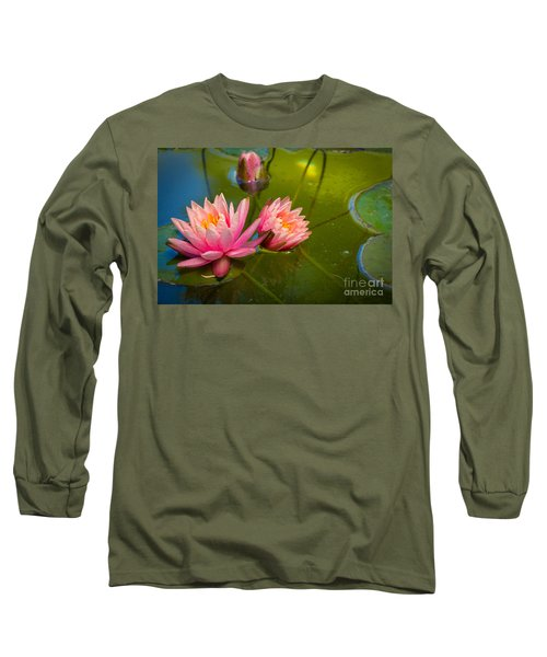 Pink Water Lily Long Sleeve T-Shirt