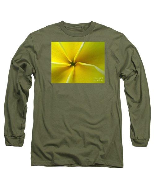Pinwheel Plumeria Long Sleeve T-Shirt by Joy Hardee
