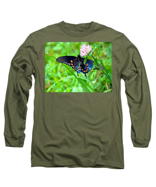Pipevine Swallowtail Hanging On Long Sleeve T-Shirt