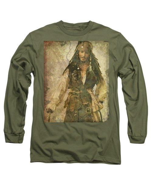 Pirate Johnny Depp - Steampunk Long Sleeve T-Shirt