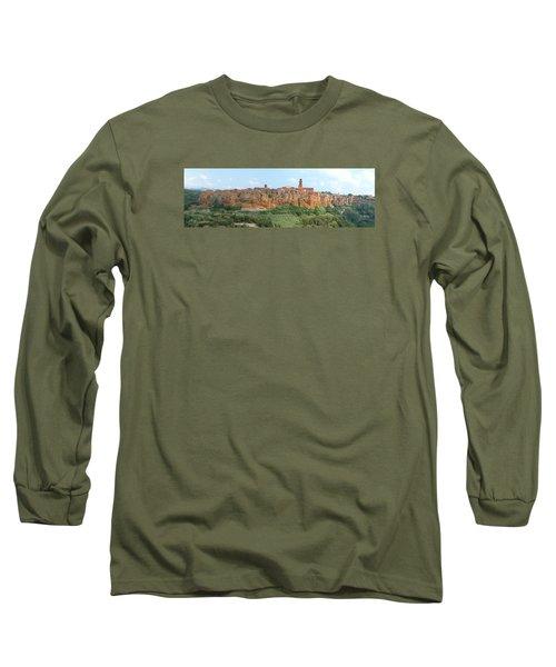Long Sleeve T-Shirt featuring the photograph Pitigliano Panorama by Alan Socolik
