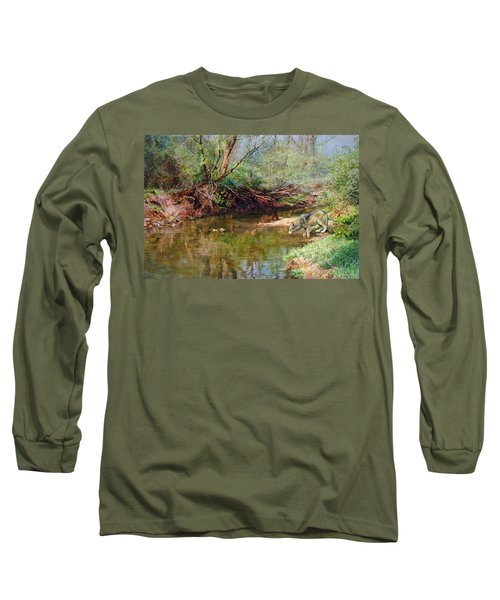 Pleasure Of  The Enchanted Wolf Long Sleeve T-Shirt by Svitozar Nenyuk