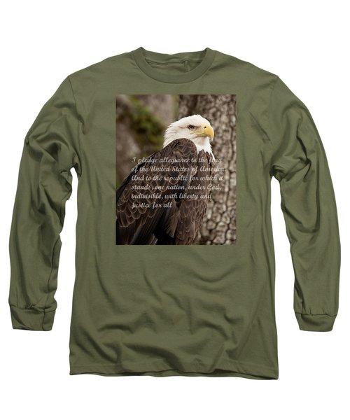 Pledge Of Allegiance Long Sleeve T-Shirt by John Black