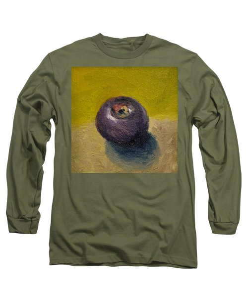 Plum With Olive And Taupe Long Sleeve T-Shirt