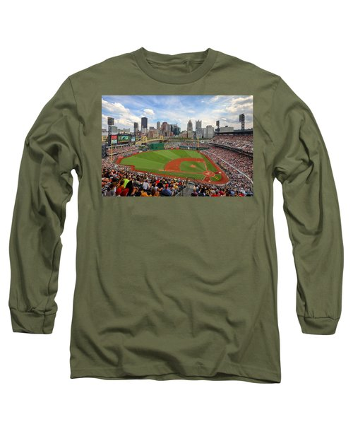 Pnc Park 2014 Long Sleeve T-Shirt by Emmanuel Panagiotakis