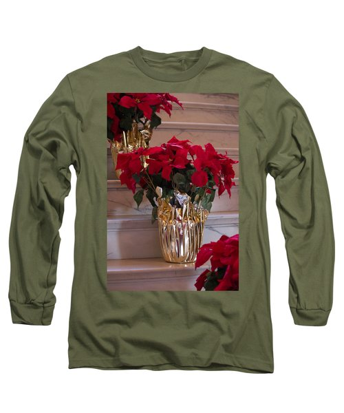 Long Sleeve T-Shirt featuring the photograph Poinsettias by Patricia Babbitt
