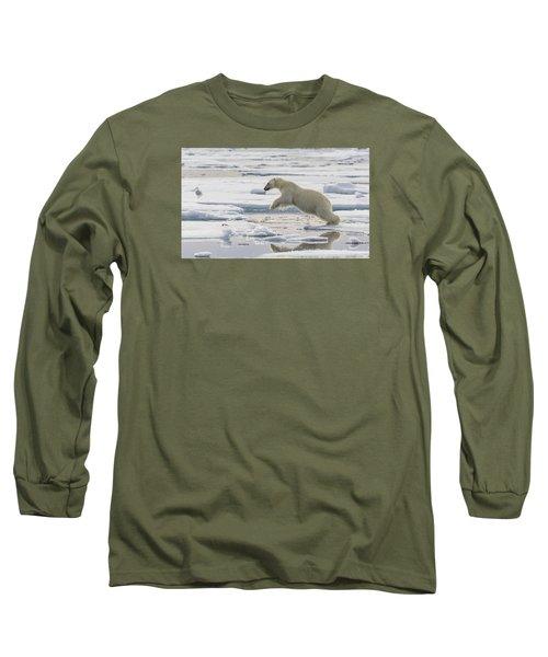Polar Bear Jumping  Long Sleeve T-Shirt