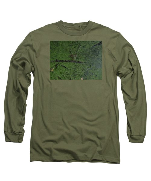 Long Sleeve T-Shirt featuring the photograph Pond Eyes by Robert Nickologianis
