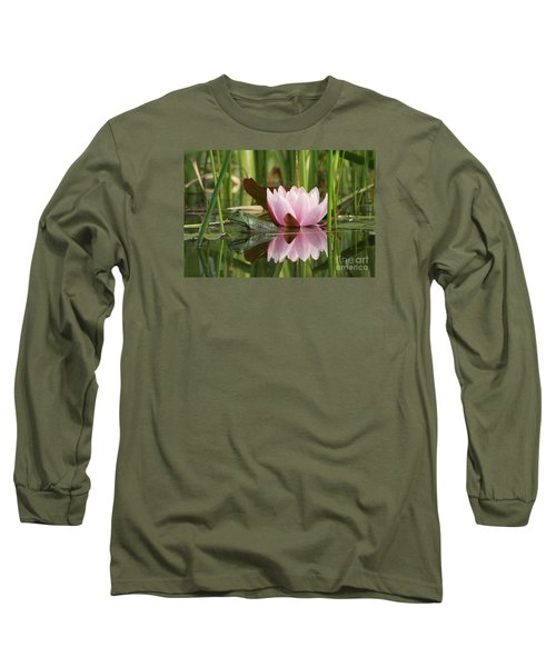 Pond Reflections Long Sleeve T-Shirt by Judy Whitton