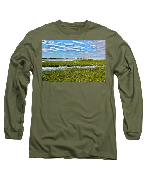 Ponquogue Bridge Long Sleeve T-Shirt
