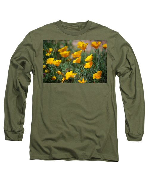 Long Sleeve T-Shirt featuring the photograph Poppies by Tam Ryan
