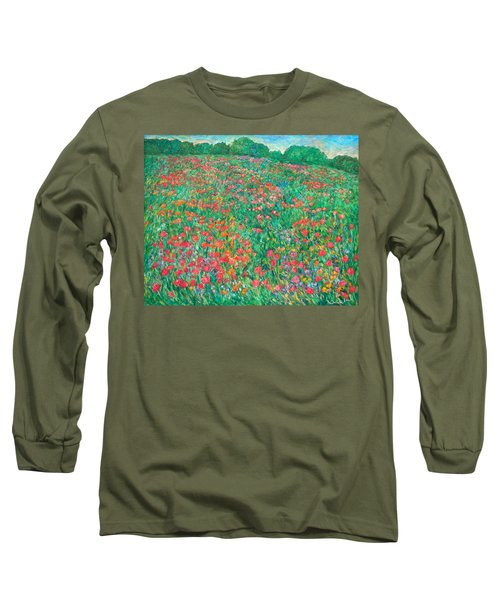 Poppy View Long Sleeve T-Shirt by Kendall Kessler