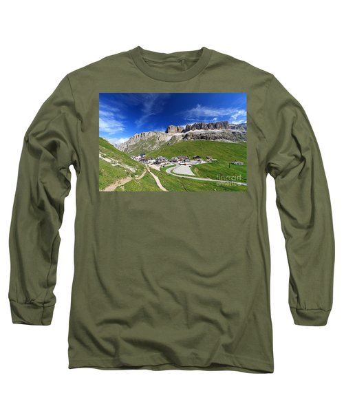 Pordoi Pass And Mountain Long Sleeve T-Shirt