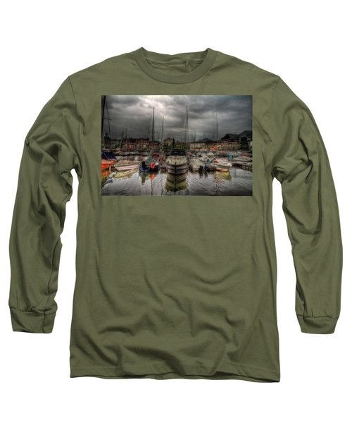 Port At Como Lake Long Sleeve T-Shirt