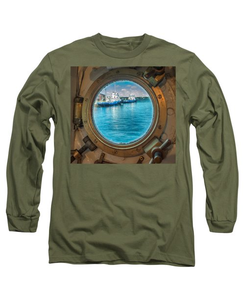 Hmcs Haida Porthole  Long Sleeve T-Shirt