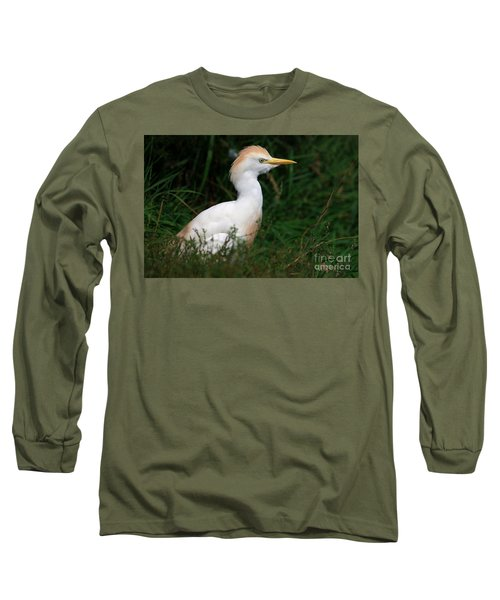 Portrait Of A White Egret Long Sleeve T-Shirt