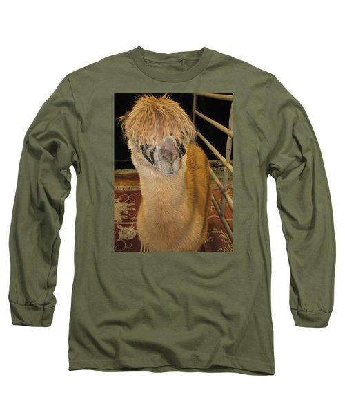 Long Sleeve T-Shirt featuring the photograph Portrait Of An Alpaca by Connie Fox
