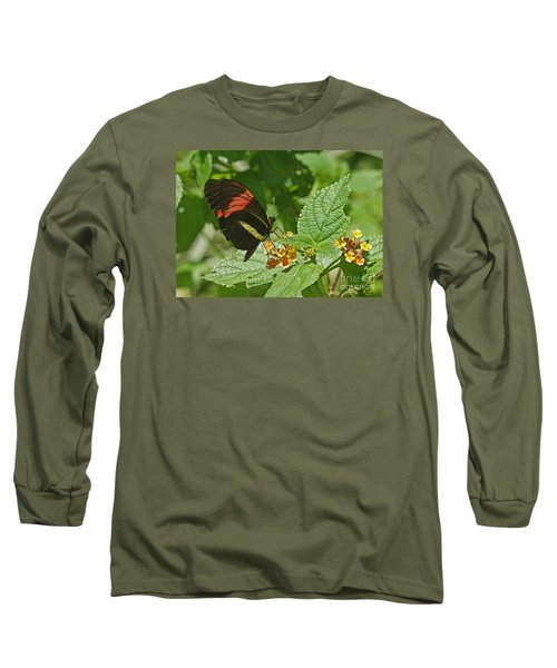Long Sleeve T-Shirt featuring the photograph Postman Butterfly 1 by Rudi Prott