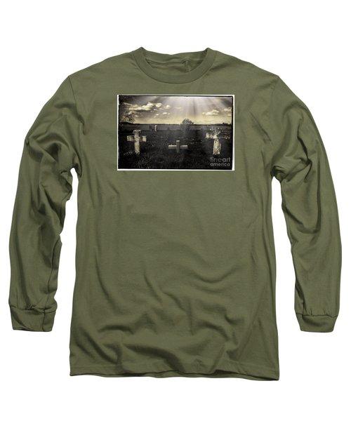 Prairie Graves Long Sleeve T-Shirt by Jean OKeeffe Macro Abundance Art