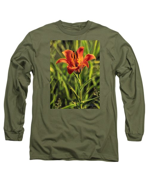Prairie Lily Long Sleeve T-Shirt by Bruce Morrison