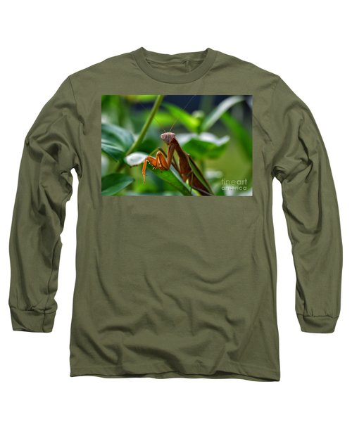 Long Sleeve T-Shirt featuring the photograph Praying Mantis by Thomas Woolworth